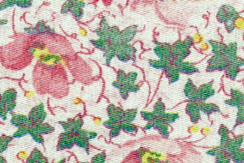 Carta Fiori Rosa Foglie Verdi 50x70cm (cod. 0459)
