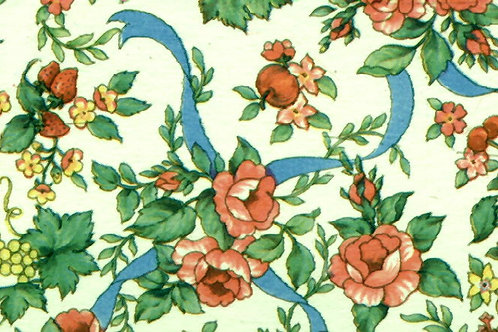 Carta Fiori Rosa Nastro Blu 50x70cm (cod. 0432)
