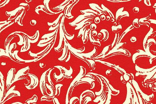 Carta Varese Fiorata Rosso 50x70cm (cod. 0195)