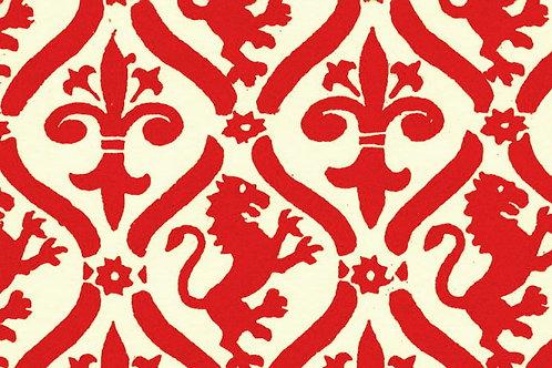 Carta Giglio e Leone Rosso 50x70cm (cod. 0182)