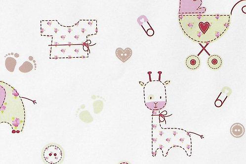 Carta con Bebè Rosa 50x70cm (cod. 2176)