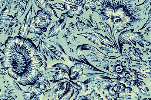 Carta Varese Fiorita Blu 50x70cm (cod. 0831)
