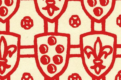 Carta Scudi con Giglio Rosso 50x70cm (cod. 074)