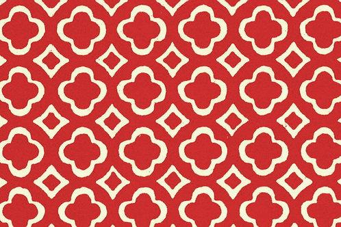 Carta Varese Disegni Geometrici Rosso 50x70cm (cod. 0054)