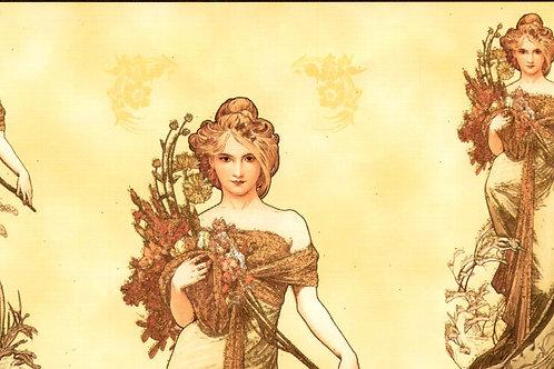 Carta con Disegno di Donna 50x70cm (cod.147A)