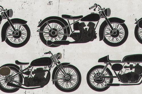 Carta con Motociclette 50x70cm (cod.2123)