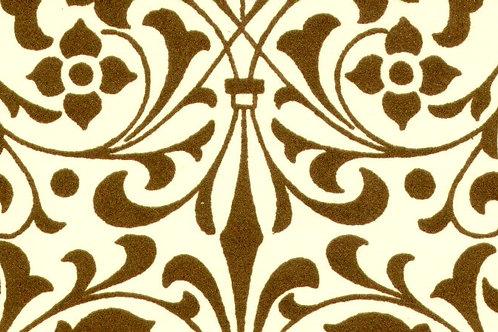 Carta Varese Fiorata Marrone 50x70cm (cod. 0194)