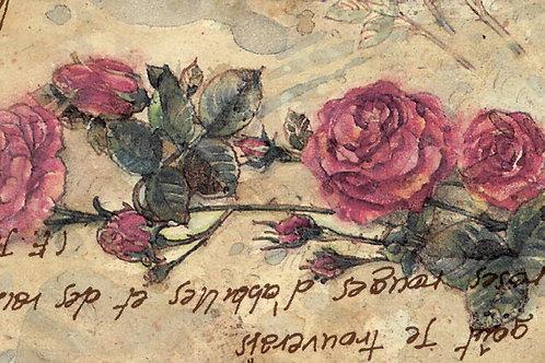 Carta per Matrimonio con Rose 50x70cm (cod. 1267)