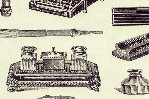 Carta con Penna e Calamaio 50x70cm (cod.1398)