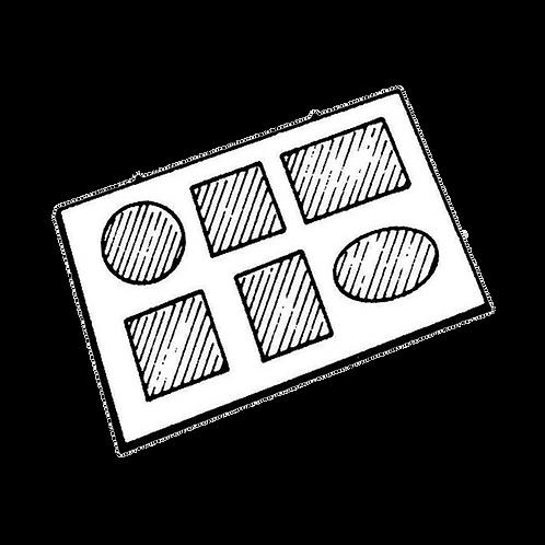 Pannello Portafoto a 6 foto (24x34cm) da rivestire