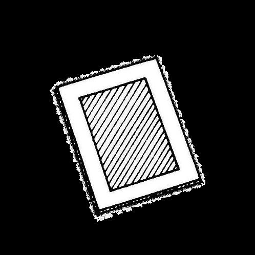 Cornice portafoto rettangolare (in varie misure) da rivestire