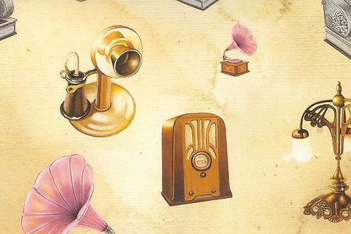 Carta con Oggetti da Collezione 50x70cm (cod.5804)