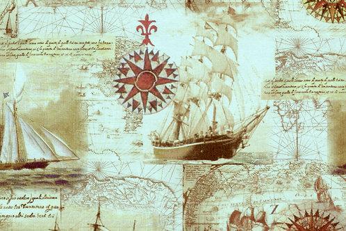 Carta con Velieri 50x70cm (cod. 0071A)