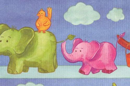 Carta con Elefanti 50x70cm (cod.6665)
