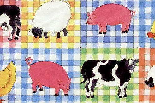 Carta con Animali della Fattoria 50x70cm (cod. 1590)