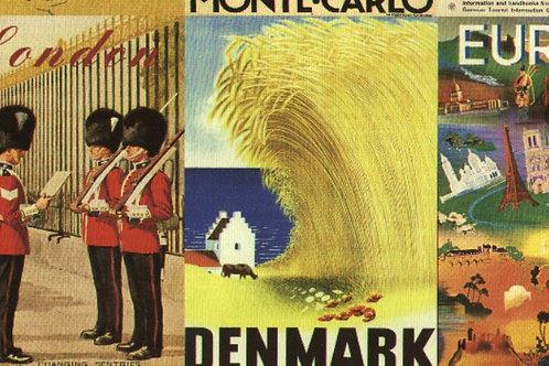 Carta con Disegni Europa 50x70cm (cod.6618)