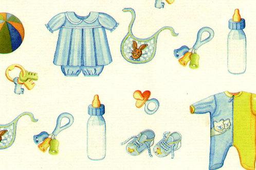 Carta con Bebè Azzurro 50x70cm (cod. 5314)