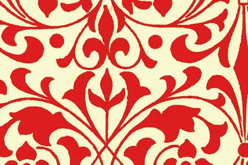 Carta Varese Fiorata Rosso 50x70cm (cod. 0191)