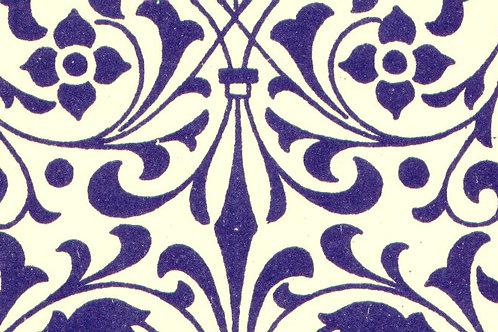 Carta Varese Fiorata Blu 50x70cm (cod. 0193)