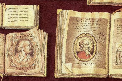 Carta con Libri 50x70cm (cod.1018)
