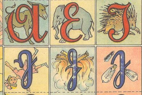 Carta con Lettere e Animali 50x70cm (cod.6353)