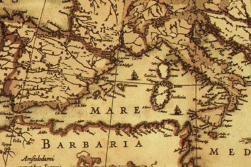 Carta Viaggi Mediterraneo 50x70cm (cod.5137)