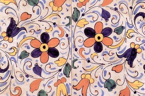 Carta Fiori Petali ArancioniBlu 50x70cm (cod. 1432)