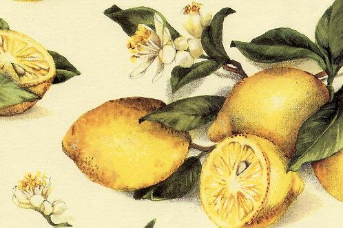 Carta Frutta Limoni con Fiori 50x70cm (cod.1270)