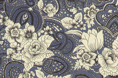 Carta Varese Fiorita Blu 50x70cm (cod. 6367A)