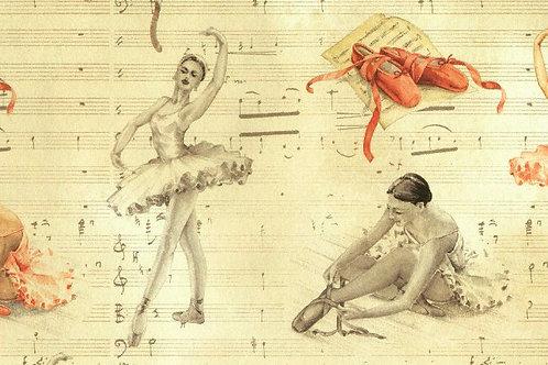 Carta con Ballerine 50x70cm (cod.5055)