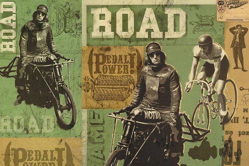 Carta con Moto e Biciclette 50x70cm (cod.7142)