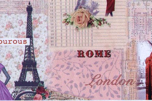 Carta Viaggi Rome Paris London 50x70cm (cod.2087)
