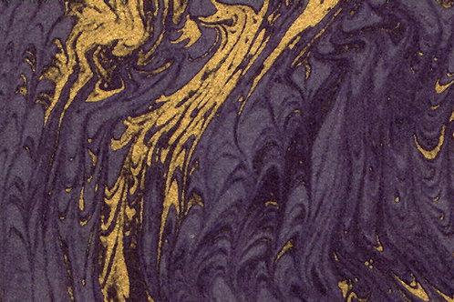 Carta Pavonata Blu Oro 50x70cm (cod.0273)