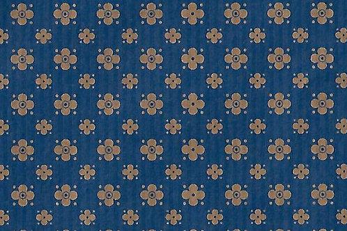 Carta Varese Rami Blu e marrone 50x70cm (cod. 2184B)