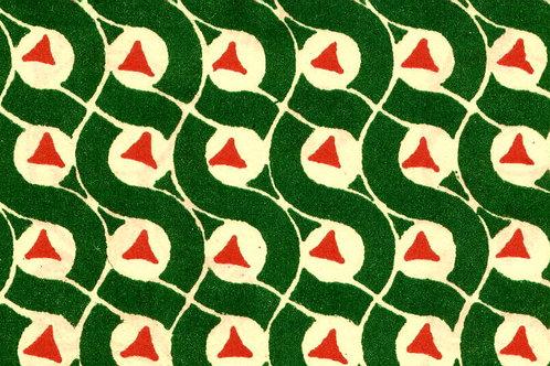 Carta Varese Disegni Geometrici Verde 50x70cm (cod. 0138)