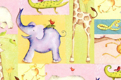 Carta con Animali 50x70cm (cod.6386)