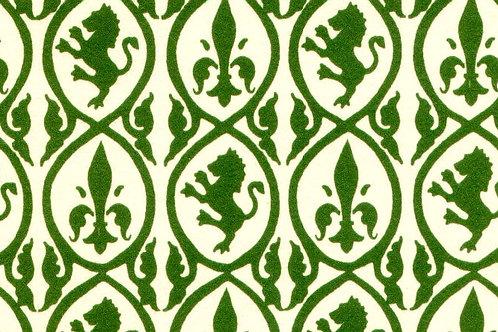 Carta Giglio e Leone Verde 50x70cm (cod. 1205)