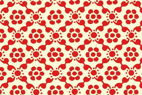 Carta Varese Disegni Geometrici Rosso 50x70cm (cod. 0050)
