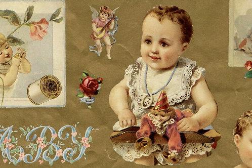 Carta con Bebè 50x70cm (cod. 1045)