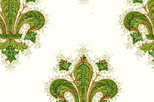 Carta Giglio Verde e Oro 50x70cm (cod. 1429)