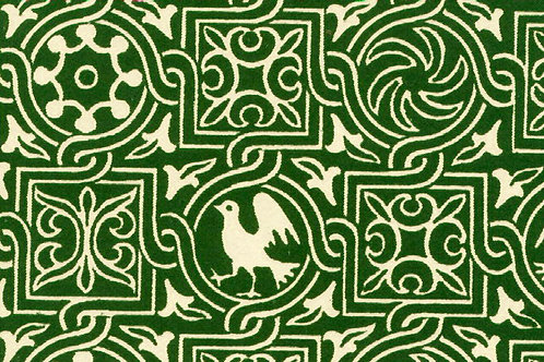 Carta Varese Uccelli Verde 50x70cm (cod. 0190)