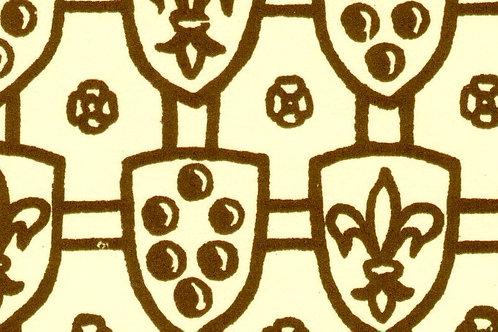 Carta Scudi con Giglio Marrone 50x70cm (cod. 073)