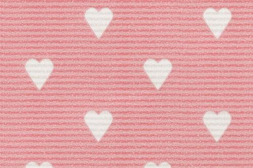 Carta Rosa con Cuori Bianchi 50x70cm (cod. 5025)