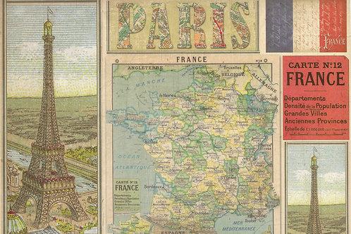 Carta Viaggi Parigi A 50x70cm (cod.7136)