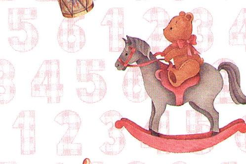 Carta con Orsetti Rosa 50x70cm (cod. 5851)