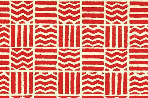 Carta Varese Disegni Geometrici Rosso 50x70cm (cod. 0187)