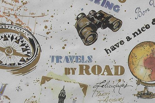 Carta Viaggi Mappamondo e Binocolo 50x70cm (cod.2157)