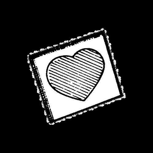 Cornice Portafoto a cuore (6x6cm) da rivestire