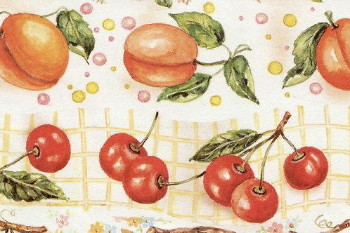 Carta Frutta Albicocca e Ciliegia 50x70cm (cod.1416)