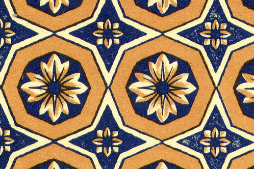 Carta Varese Disegni Geometrici Blu e Marrone 50x70cm (cod. 0869)